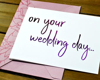 Script Wedding Card Cute On Your Day