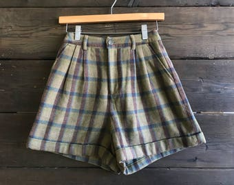 Vintage 80s Plaid Guess High Waisted Shorts