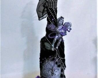 Decorative Bottle: Vintage Angel