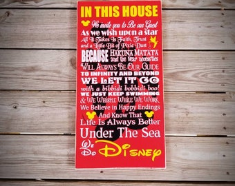 12 x 22 wood Disney in this houses sign