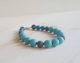 Turquoise and Amazonite Women's Bracelet