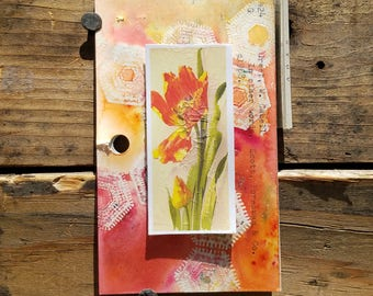 Tulip Vintage Library Card