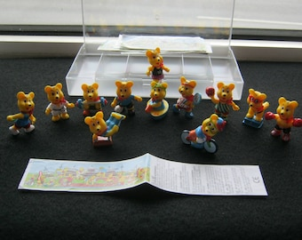 Vintage toys, ob-Ei figures here series Bear Olympiad Austria around 1990, very good condition