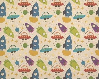 space wrapping paper etsy
