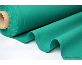 Tissu cretonne coton emeraude par 50cm