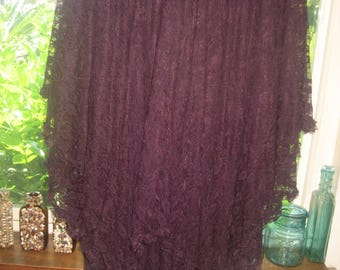 Beautiful Dark Purple Layers of Lace Reversible Party Dress