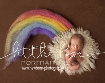 Rainbow Newborn Digital Background High Res jpg file