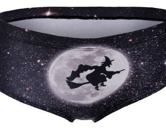 Halloween Panties - Bad Witch Knickers - Hipster Underwear