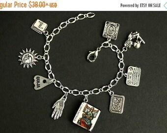 BACK to SCHOOL SALE Tarot Bracelet. The Empress Charm Bracelet. Divination Bracelet. Silver Bracelet. Imperatrice Bracelet. Tarot Jewelry. M