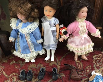 """American Girl Doll """"Dolls"""" for the dolls, 3 dolls, very nice, excellent condition!"""