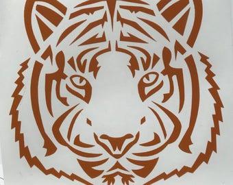 Tiger Vinyl Decal Sticker/Tiger/Tiger Head/Vinyl/Decal/Sticker/Yeti Decal/Car Decal