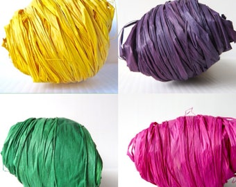 Raffia Grass / Rafia / Natural Fiber / Crochet with Raffia / Natural Raffia / Raffia Yarn / Gift Wrap /  Basket Making / Raffia for Baskets