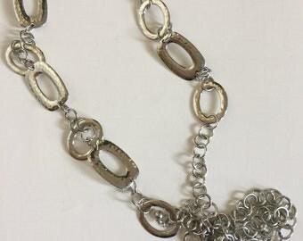 Vintage Silver Link Belt