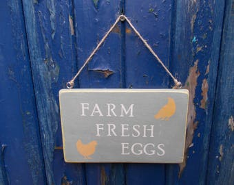 Farm  Fresh  Eggs  Sign  Wooden  Rustic  Sign.  9  Inches  x  5  and  a  half  Inches.