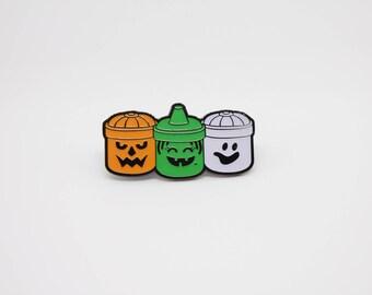 Glow in the Dark Boo Buckets McDonalds Happy Meal Halloween Pails Enamel Pin v4