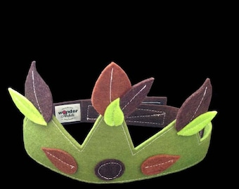 Accessory child costume Crown felt King of the Woods - King - Queen - Prince - Princess