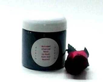 Activated Charcoal Mask / Charcoa Facel Mask / Facial Mask / Acne Treatment / Clay Mask / Oily Skin