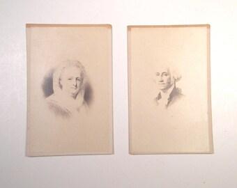 George and Martha Washington – Carte De Visite