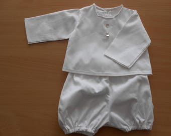 1-3 months white bloomers and BRA set