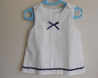 12-18 months white trapeze dress