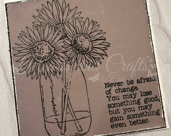 Handcrafted Greeting Card - Flowers (PAT-0040)