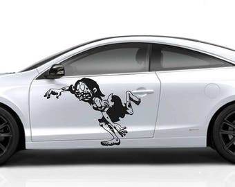 zombie car hood decal Zombie Car Decals Zombie Car Truck zombie Side Body Graphics Decal zombie Sticker for car kikcar30