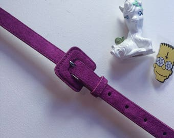 90s vintage purple fuzzy belt