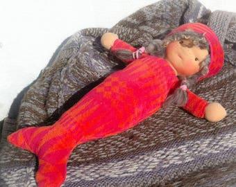 "21"" Mermaid Doll. Waldorf-inspired doll."