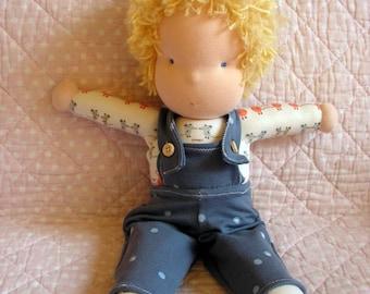 Tim, large, soft and supple cuddle doll, organic cotton waldorf doll, large steiner boy doll, waldorf baby boy, toddler doll, steiner doll
