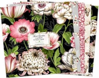 "Tivoli Garden 10 Karat Crystal by Anne Rowan for Wilmington Prints, layer cake, 42 10"" squares, Q518-500-518, precut fabric, quilting,"