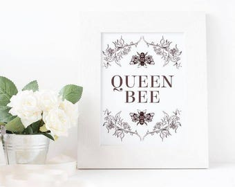 Queen Bee || Digital Print ||