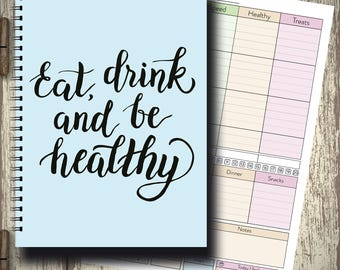Slimming World Friendly - Food Planner Diary - Diet Tracker - Food Log - 13 Week Planner - New Year New You, cover 48