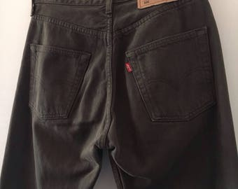 Levis 501 Jeans, High Waisted Size 29/32