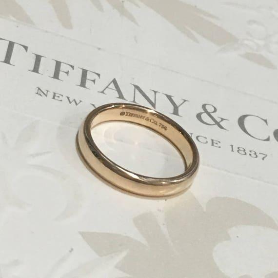 Mint Authentic Tiffany & Co Rose Gold RG Classic Lucida
