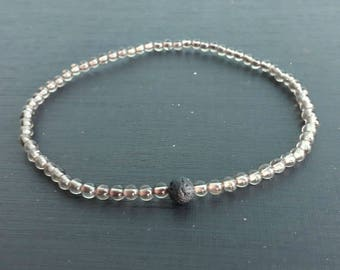 4 mm Smoky quartz anklets for Men and Women,stone anklets,gift anklets,fashion anklets,lava anklets,black gray anklets