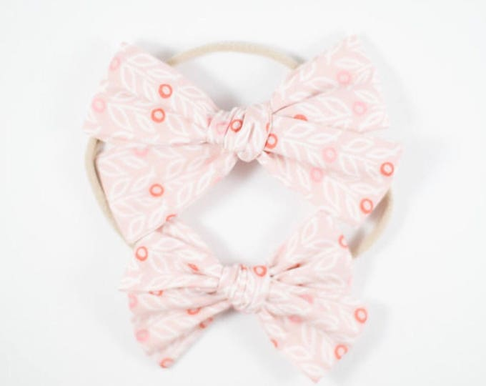 Sloane bow || Dusty rose