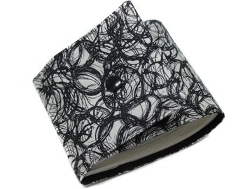 modern and original long checkbook door off-white and black