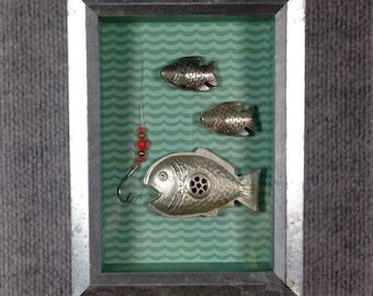 Metal Fish and Hook