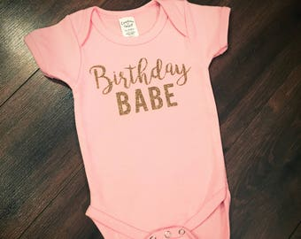 Birthday Babe onesie