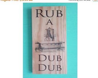 Bathroom wall decor -  Rub a dub dub sign -  Bathroom decor - Rustic bathroom sign - Bathroom wall art - Bathroom sign -  Housewarming gift
