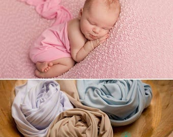 RTS, Stretch Jersey Wrap for Newborn Photography,Pink,White,Blue,Light Stone,UK Seller