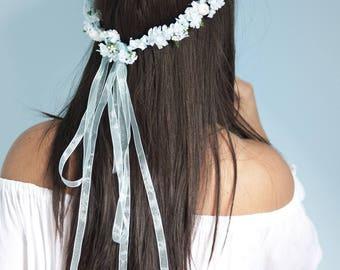 Fabric flower Crown