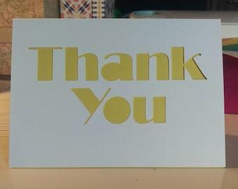 Thank you card // Thanks // Greeting card // Handmade
