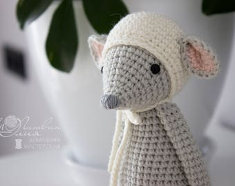 Mouse toy Crochet toy Amigurumi Knitted toy Baby toys Stuffed toy Baby gift soft toy Gift for boy girl Soft mouse  Knit  animals Handmade