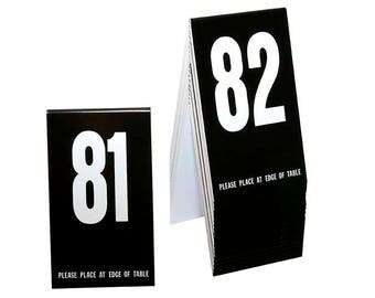 Plastic Table Numbers 81-100 Tent Style Numbers Various Color Choices w/  sc 1 st  Etsy & Table number tent   Etsy