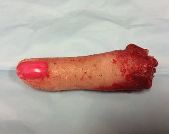 Silicone Severed Finger Ed Gein Horror Creep Art Halloween Film Prop