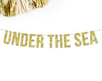 Under The Sea Banner | mermaid party | birthday banner | pool party | sea party | mermaid banner | mermaid theme | custom banner