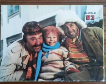 Vintage jigsaw puzzle Pippi Longstocking