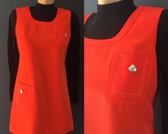 Red 60s mod dress