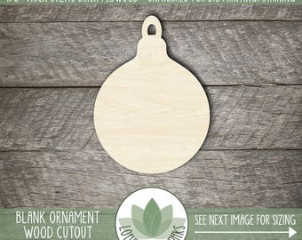 Wood Christmas Ornament Laser Cut Shape, Wooden Christmas Ornament Cut Out, DIY Craft Supply, Holiday Christmas Ornament, Christmas Decor